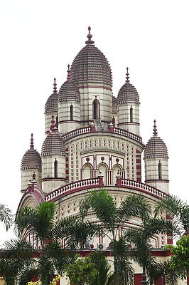 Dakshineshwar Temple - Kolkata India - Royalty free stock photo, image