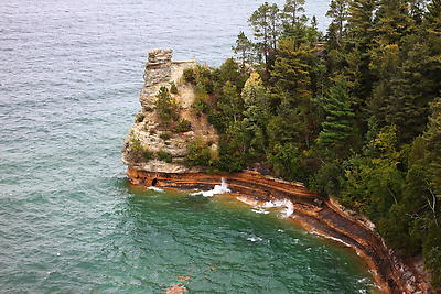 Pictured Rocks - Royalty free stock photo, image