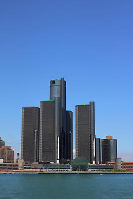 Renaissance Center Detroit - Royalty free stock photo, image