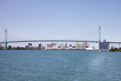 Ambassador Bridge - Royalty free stock photo, image