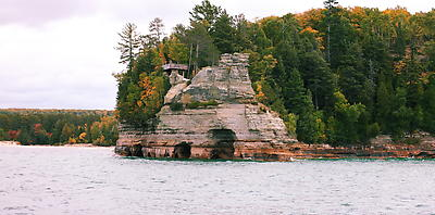 Pictured Rocks - Munising - Royalty free stock photo, image