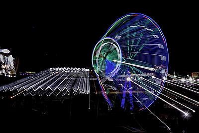 Flying Wheels - Royalty free stock photo, image