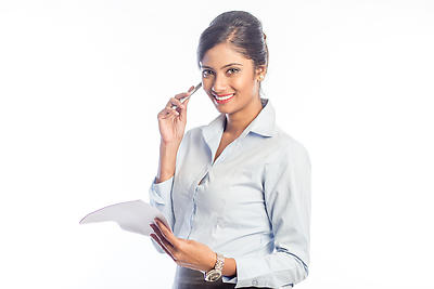 Working woman - Royalty free stock photo, image