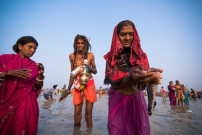 Ganga Puja - Royalty free stock photo, image