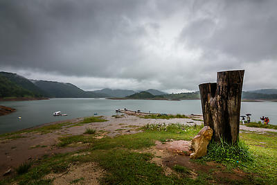 BARAPANI ON A CLOUDY DAY - Royalty free stock photo, image
