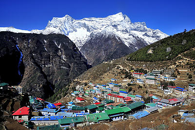 Namche - Royalty free stock photo, image