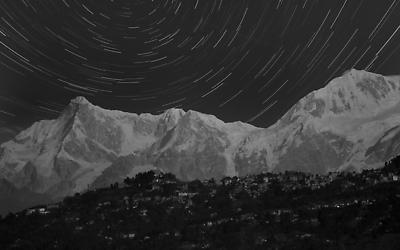 The Mighty Mt. Kanchenjunga Startail - Royalty free stock photo, image