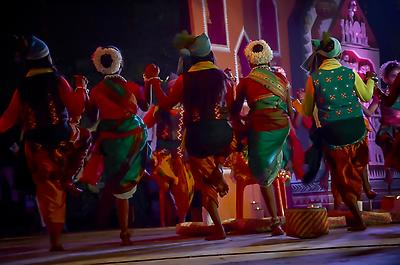 Adivasi folk dance - Royalty free stock photo, image