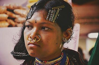 Tribal Beauty - Royalty free stock photo, image