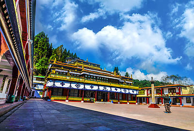 Rumtek Monastery Gangtok - Royalty free stock photo, image