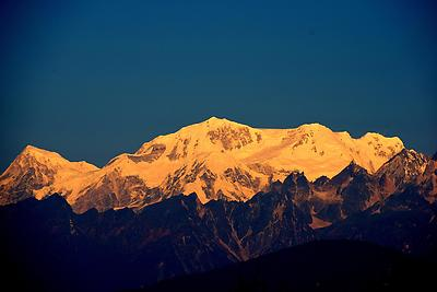 Himalaya From Icchagaon. - Royalty free stock photo, image