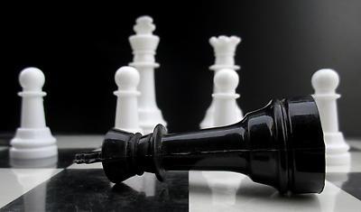 Fall of dark king... - Royalty free stock photo, image