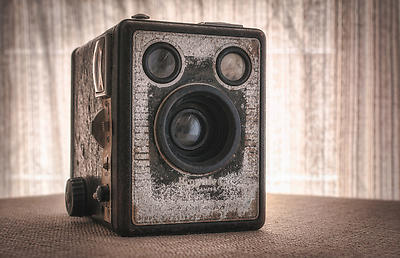 Vintage Camera - Royalty free stock photo, image