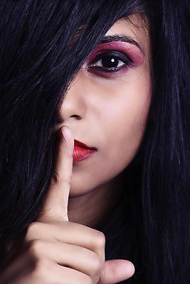 Keep silence - Royalty free stock photo, image