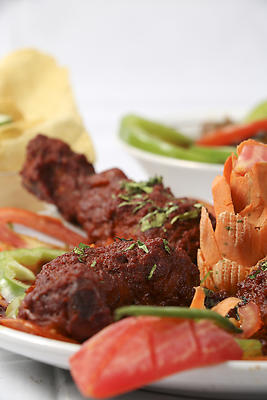 Non vegetarian Indian food - Chicken - Royalty free stock photo, image