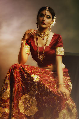 Indian Bride - Royalty free stock photo, image