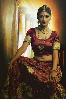 Ethnic Indian Bride - Royalty free stock photo, image