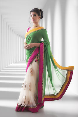 Beauty in Saree - Royalty free stock photo, image
