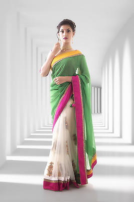Indian Saree - Royalty free stock photo, image