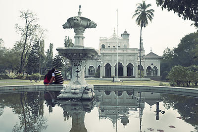 Dreamy aga khan palace - Royalty free stock photo, image