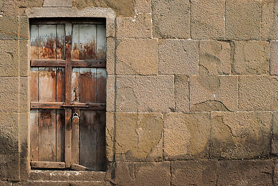 The closed door of shaniwarwada - Royalty free stock photo, image