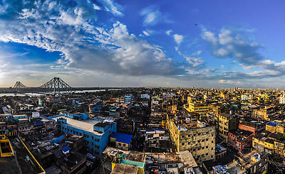 Kolkata skyline - Royalty free stock photo, image