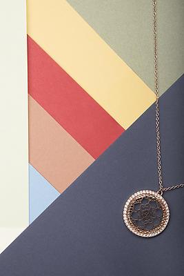 Lotus shape pendant necklace - Royalty free stock photo, image