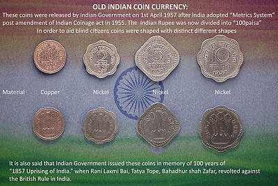 Old Indian Coin currency - Royalty free stock photo, image