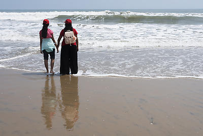 Travel dairies of mom and daughter - Royalty free stock photo, image
