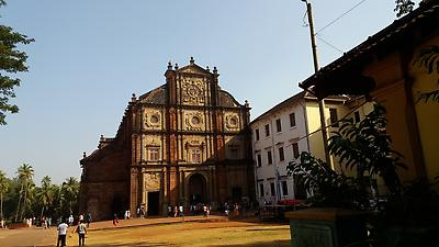 Old Goa Church - Royalty free stock photo, image