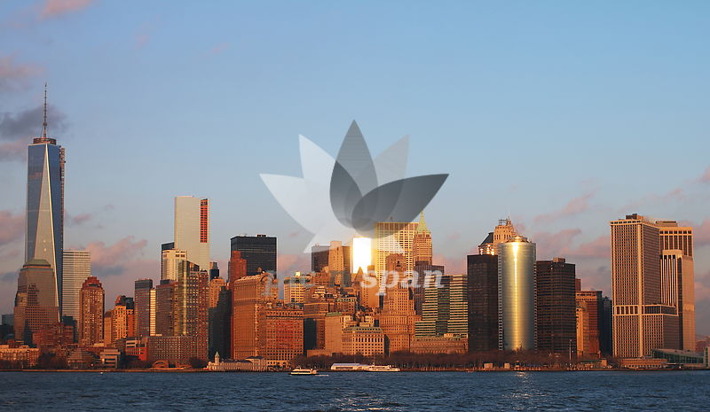 Manhattan skyline - Royalty free stock photo, image