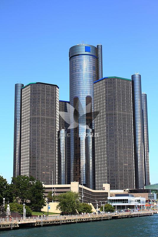 Renaissance Center Detroit - Royalty free stock photo, image