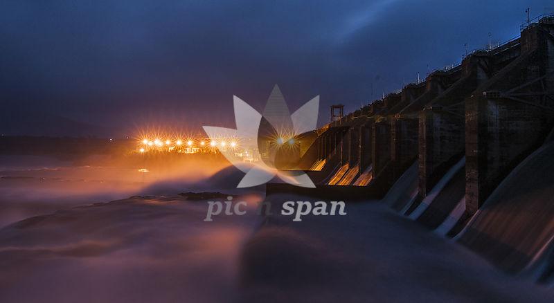 Panchet Dam - Royalty free stock photo, image