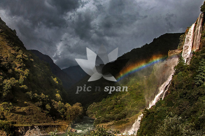 Nuranang Falls  - Royalty free stock photo, image