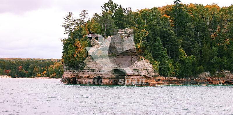Pictured Rocks - Munising - Royalty free stock photo, image