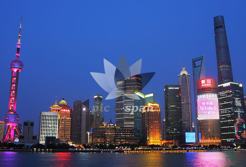 Shanghai skyline - Royalty free stock photo, image