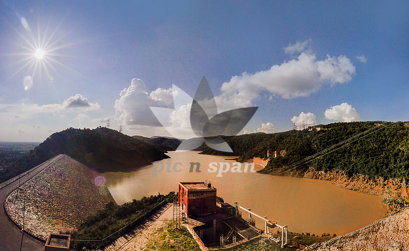 Dam on Ajadhya hills - Royalty free stock photo, image