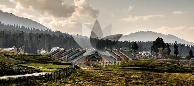 institute of skiing and mountaineering gulmarg - Royalty free stock photo, image