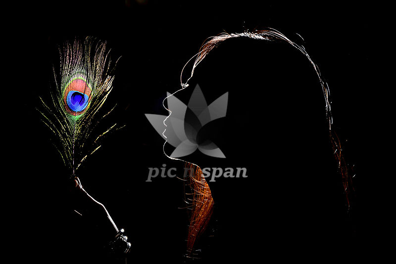 LONELY RADHIKA - Royalty free stock photo, image