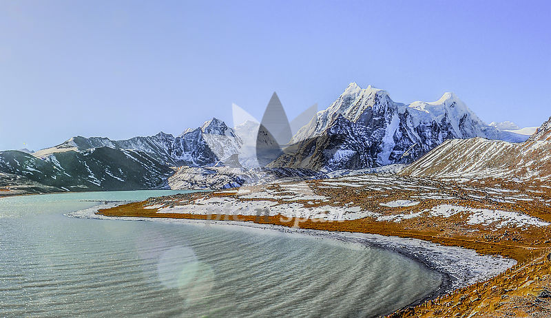 gurudongmar lake - Royalty free stock photo, image