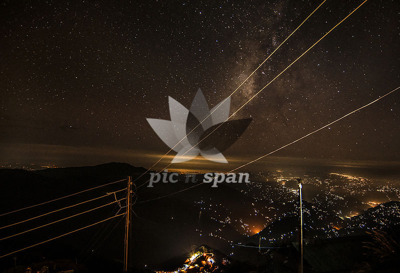 night sky of Sikkim - Royalty free stock photo, image