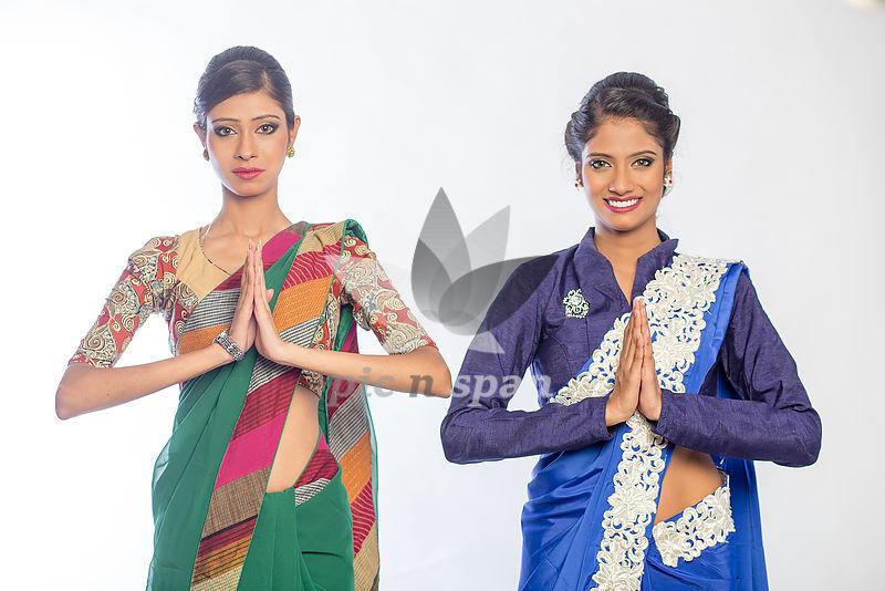 Greeting - Namaste - Royalty free stock photo, image