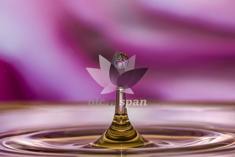 water droplet magic - Royalty free stock photo, image