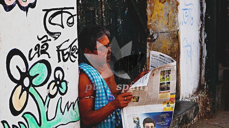 Streets of Kolkata - Royalty free stock photo, image
