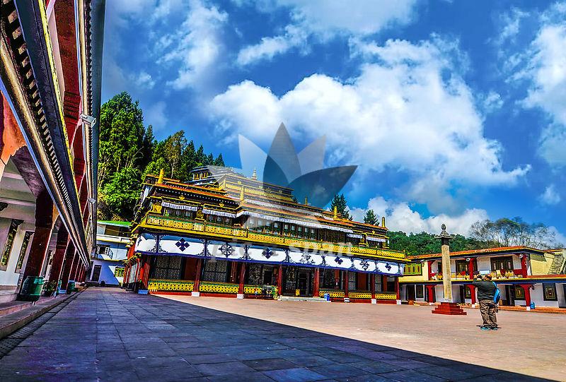 Rumtek Monastery Gangtok - Royalty free stock photo, image