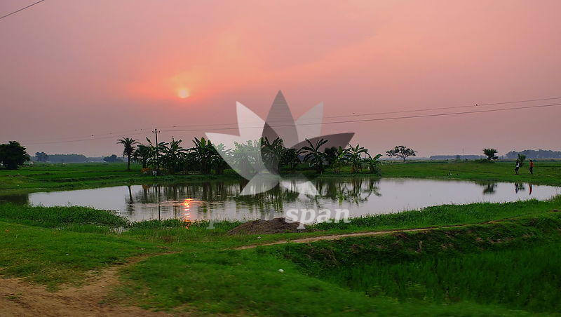 BK2 - West Bengal village - Royalty free stock photo, image