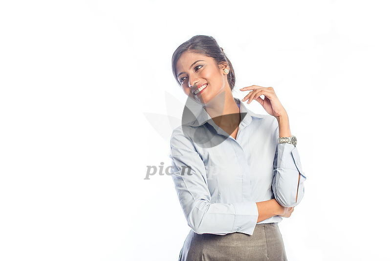 Happy woman - Royalty free stock photo, image