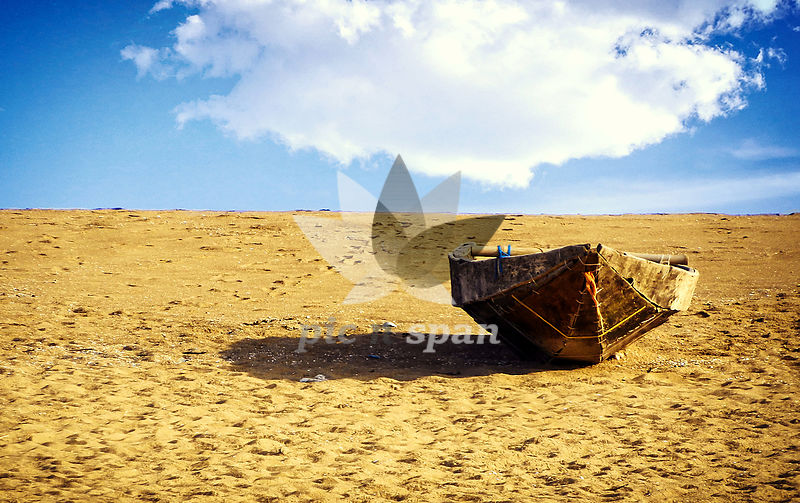 A lonely Boat - Royalty free stock photo, image
