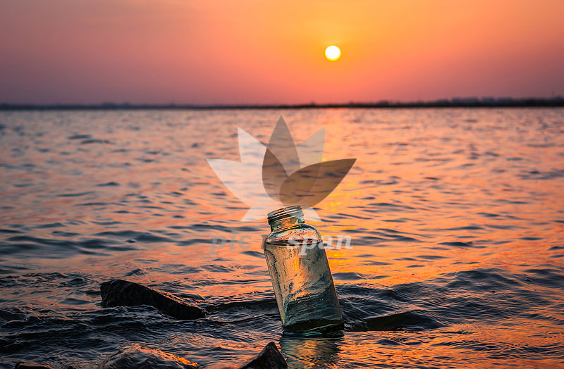 A Calm Sunset - Royalty free stock photo, image