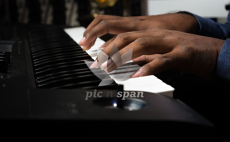 Playing Piano - Royalty free stock photo, image